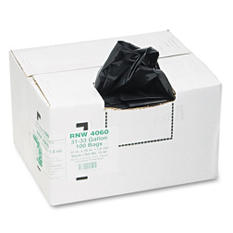 Earthsense Commercial - Recycled Can Liners, 31-33gal, 1.65mil, 33 x 39, Black -  100/Carton