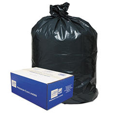 Classic - 2-Ply Low-Density Can Liners, 55-60gal, .8mil, 38 x 58 Black -  100/Carton