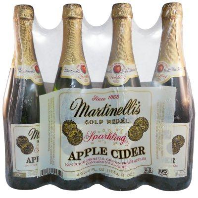 Martinelli S Gold Medal Sparkling Apple Cider 25 4 Fl Oz Bottle 4 Pk Sam S Club