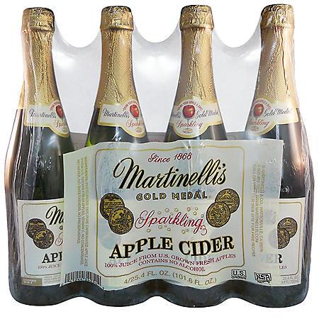 Martinelli's Gold Medal Sparkling Apple Cider (25.4 fl. oz. bottle, 4 pk.)