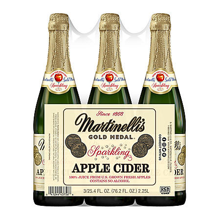 Martinelli's Sparkling Apple Cider (25.4 oz, 3 pk)