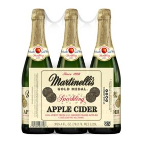 Martinelli's Sparkling Apple Cider (25.4 oz, 3 pk)