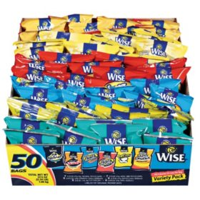 Wise Potato Chips Variety Pack (50 ct.)