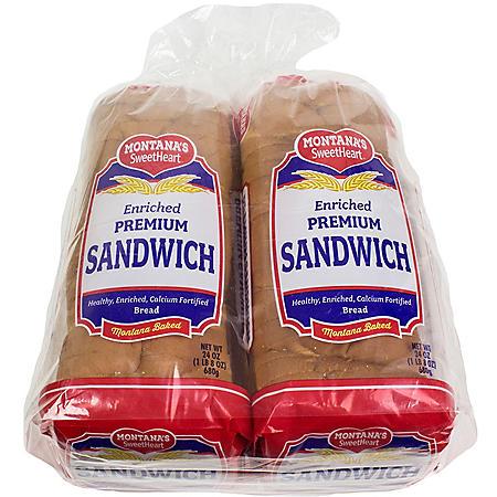 Montana's Sweetheart White Bread (2 pk., 48 oz.)
