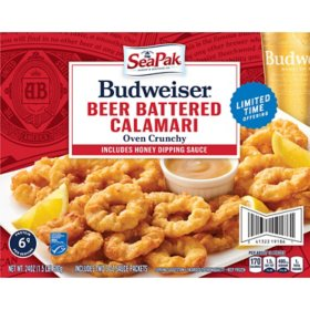Frozen SeaPak Budweiser Beer-Battered Calamari (24 oz.)