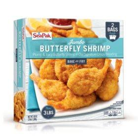 SeaPak Jumbo Butterfly Shrimp (3 lb., 2 bags)