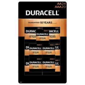 Duracell Coppertop AA Alkaline Batteries (24 count)/AAA Alkaline Batteries (20 count) Combo Pack
