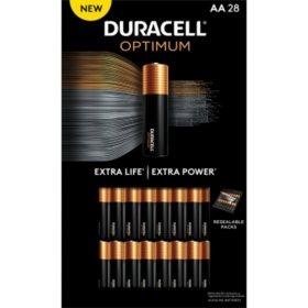 Duracell Optimum AA Batteries - Resealable Package (28 pk.)