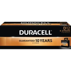 Duracell Coppertop Alkaline D Batteries for Resale (12 Pk.)