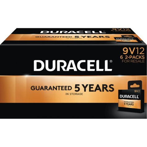 Duracell Coppertop Alkaline 9V Batteries for Resale (12 Pk.)