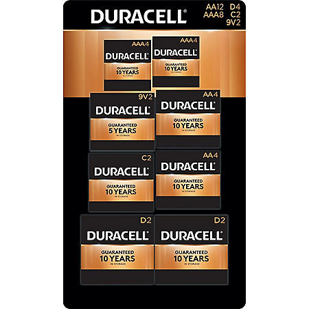 Duracell Coppertop Alkaline Batteries 28ct. Variety Pack