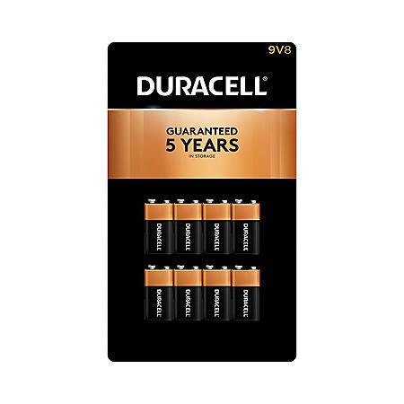 Duracell Coppertop Alkaline 9V Batteries (8 Pk.)