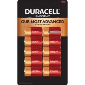 Duracell Quantum Alkaline D Batteries (10 Pk.)