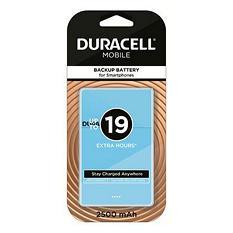 Duracell Mobile PowerPack Nano 2500 mAh Backup Battery For Smartphones - Blue