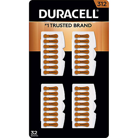 Duracell Hearing Aid Size 312 Batteries (32 ct.)