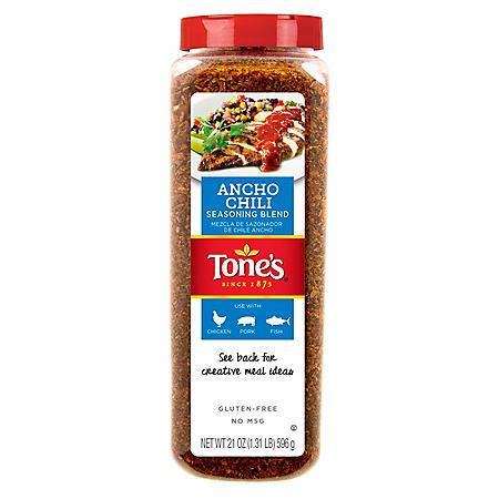 Tone's Ancho Chili Seasoning Blend (21 oz.)