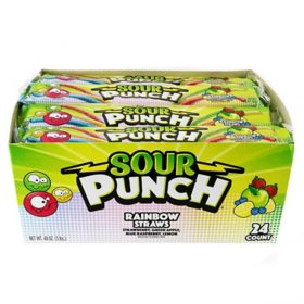 Sour Punch Rainbow Straws (2 oz., 24 ct)