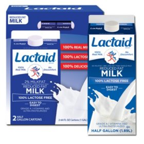 Lactaid 100% Lactose Free 2% Reduced Fat Milk (64 fl. oz., 2 ct.)