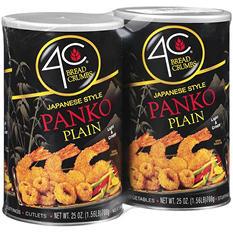 4C Plain Panko Japanese Style Bread Crumbs - 25 oz. - 2 ct.