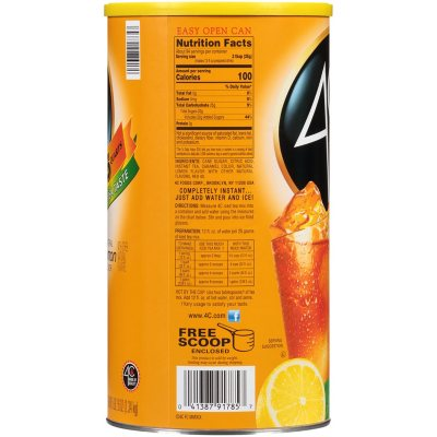 4c 35 Qt Lemon Iced Tea Mix 82 6 Oz Sam S Club