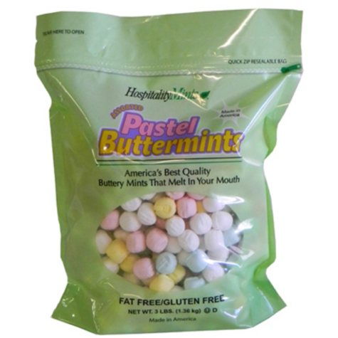 Hospitality Mints Pastel Buttermints - 3 LBS.