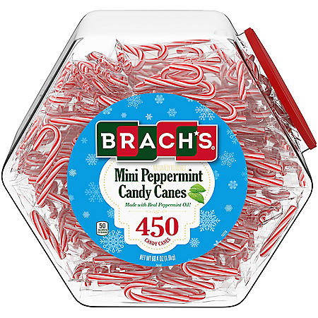Brach's Mini Peppermint Candy Cane Jar (68 oz.)