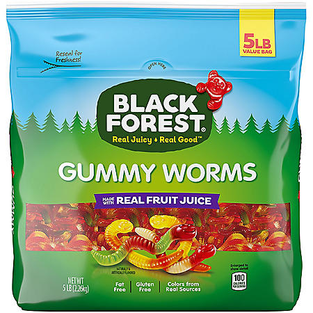 Black Forest Gummy Worms (5 lbs.)