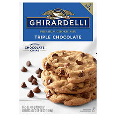 Ghirardelli Triple Chocolate Chip Cookie Mix (17.5 oz. ea., 3 pk.)