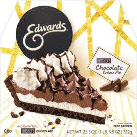 Edwards Hershey's Chocolate Creme Pie, Frozen (25.5 oz.)