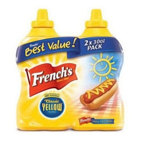 French's Classic Yellow Mustard (30 oz. bottle, 2 ct.)