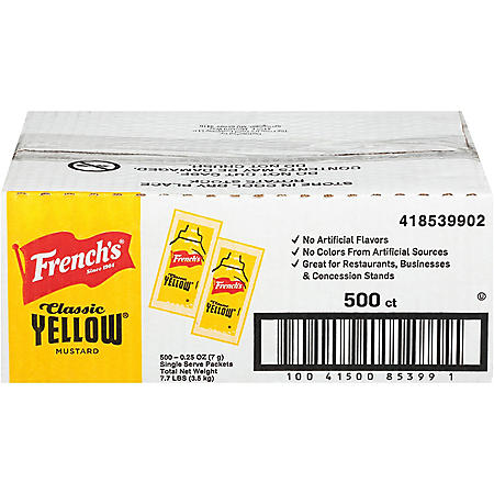 French's Mustard Single-Serve Packets (5.5 g., 500 ct.)