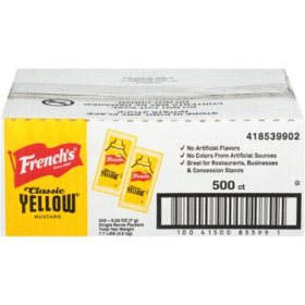 French's Mustard Packets (5.5 g., 500 ct.)