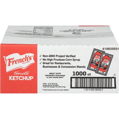 French's Tomato Ketchup (1000 ct.)