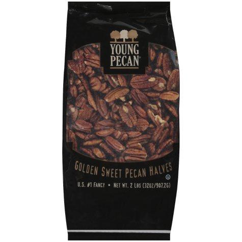 Young Pecan® Golden Sweet Pecan Halves -  2 lb.