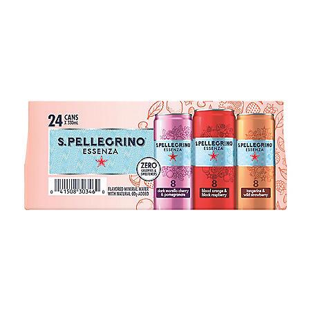 S. Pellegrino Essenza Flavored Mineral Water Variety Pack (11.15 fl. oz., 24 pk.)