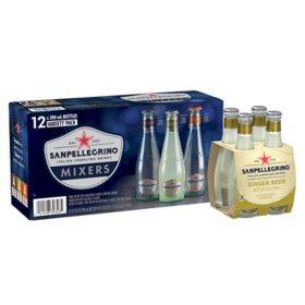 Sanpellegrino Italian Sparkling Mixers Variety Pack Glass Bottles (12 pk.)