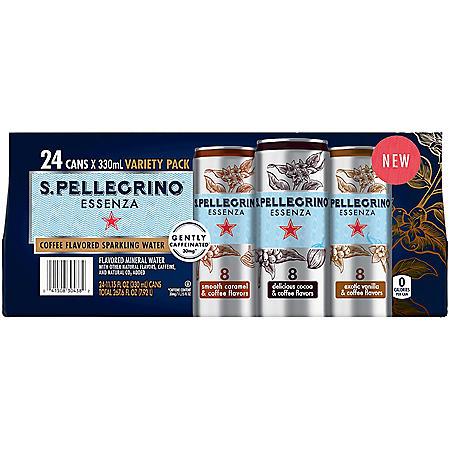 S.Pellegrino Essenza Sweet Caramel and Coffee Flavors (11.15 fl. oz., 24 pk.)