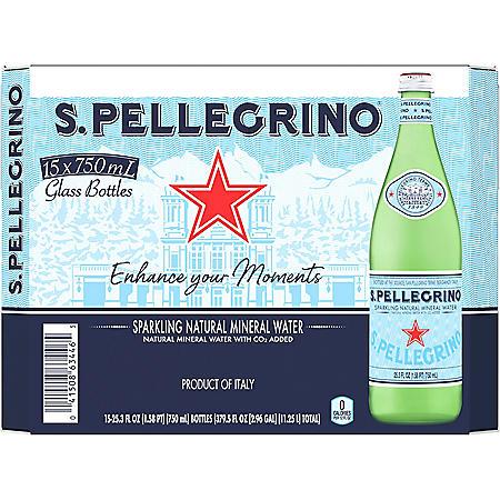 S.Pellegrino Sparkling Natural Mineral Water (25.3 fl. oz., 15 pk.)