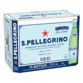 S. Pellegrino Sparkling Natural Mineral Water (750 ml, 15 pk.)