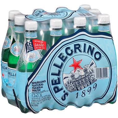 S Pellegrino Sparkling Natural Mineral Water   Oz Bottles  Pk