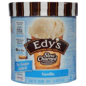 Edy's Slow Churned No Sugar Added Vanilla Ice Cream (1.5 qts.)