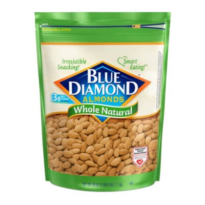 Deals on Blue Diamond Whole Natural Almonds 40 oz.