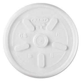 Dart Hot And Cold Foam Cup Plastic Lids Vented 8 Oz 1000 Ct