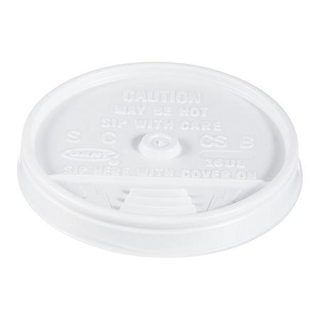 Dart Hot and Cold Foam Cup Plastic Lids, Sip-Thru, 16 oz. (1,000 ct.)