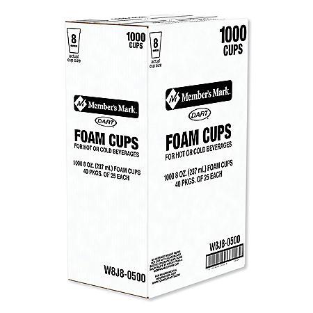 Dart Foam Cups 10008 Oz Sams Club