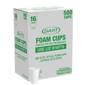 Dart® Foam Cups - 500/16 oz.