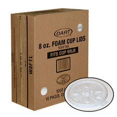 Dart® 8 oz. Foam Cup Lids - 1000 ct.