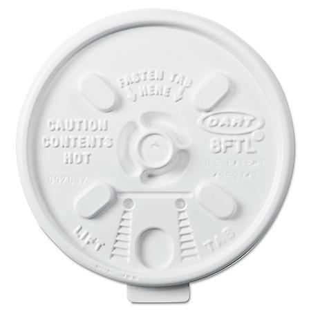 Dart Member's Mark 8 oz. Foam Cup Lids (1000 ct.)