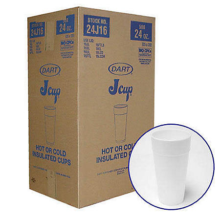 Dart® Hot or Cold Insulated Cups - 500/24oz