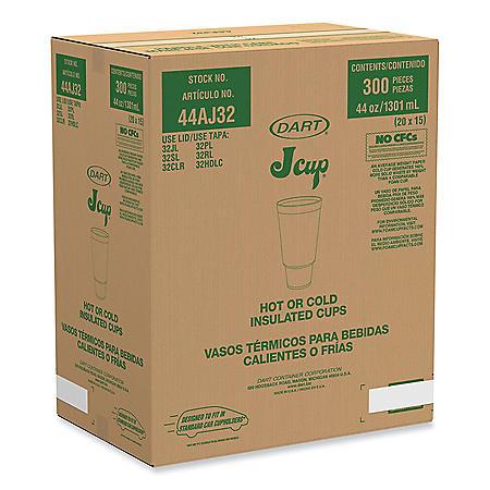 Dart Horizon Printed Foam Pedestal Cups - 44 oz. - 300 ct.